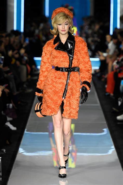 gigi hadid at moschino runway show at milan fashion week