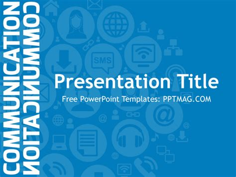 presentation themes for communication free communication powerpoint template pptmag