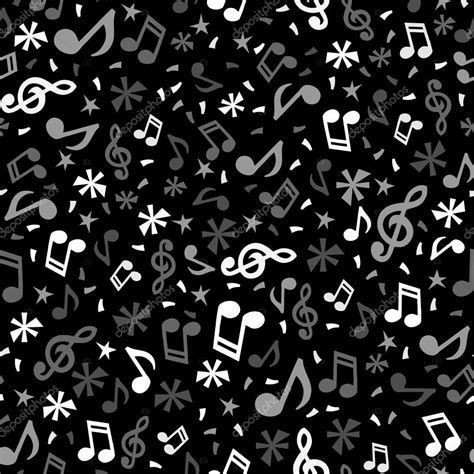 notes pattern background monochromatic music notes seamless pattern background