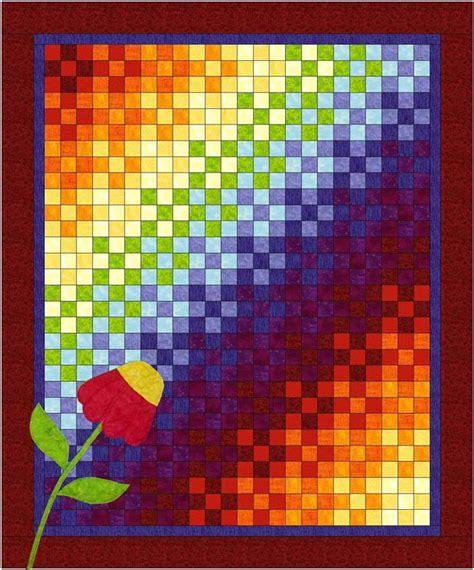 quilt pattern rainbow rainbow nine patch quilt pattern bl2 102 advanced