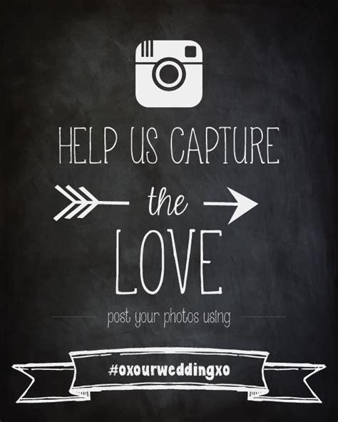 Instagram Wedding Sign Wedding Hashtag Poster Wedding Hashtag Sign Template Free