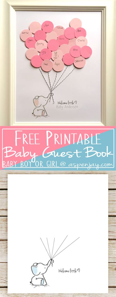 Guestbook For Baby Shower by Elephant Baby Shower Guest Book Printable Aspen