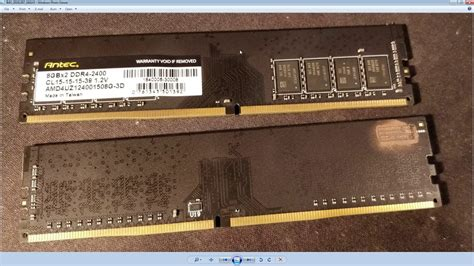 testing 2x8gb ddr4 antec series3 2400mhz samsung b die on