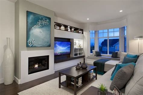 living room place asymmetrical tv and fireplace look finalist fireplace tvs design and fireplaces