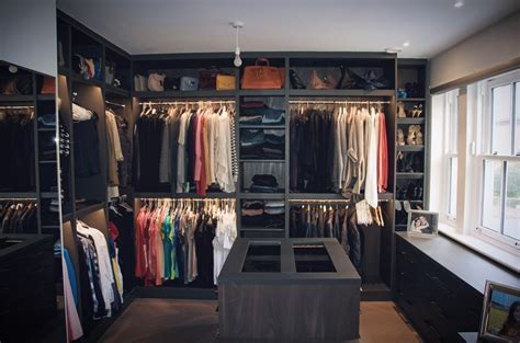 Closet Interiors Walk In Wardrobe Made From Combination Of Leather And