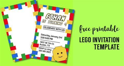 lego birthday invitations free printable lego birthday invitation template paper trail design
