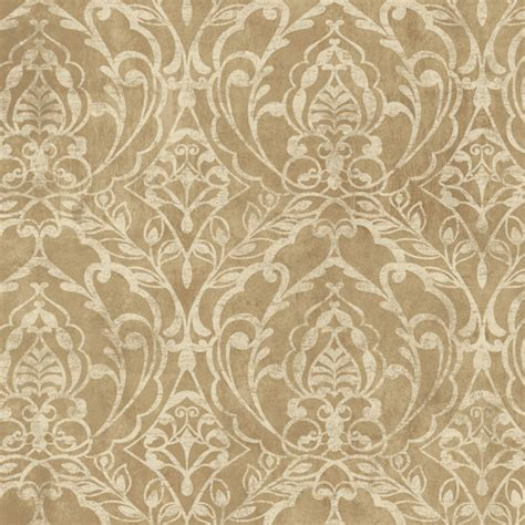 metallic gold laser damask wallpaper