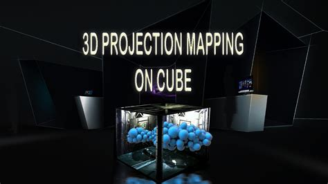 projection mapping on cube 3d projector