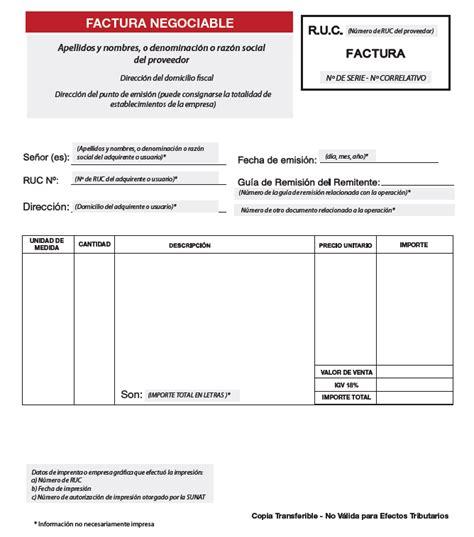 modelo de factura comercial factura negociable novedades para contribuyentes e imprentas