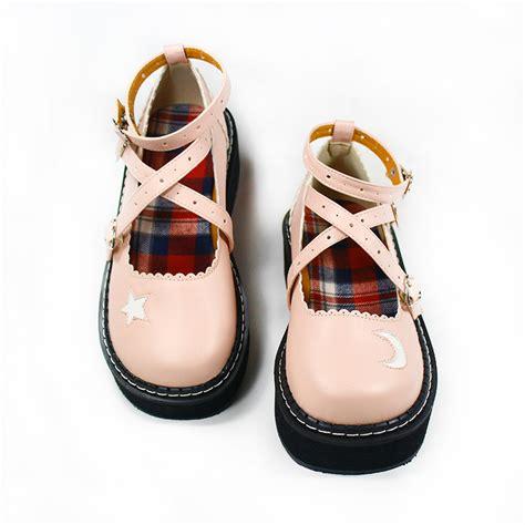 sweet japanese galaxy moon platform shoes 183 kawaii
