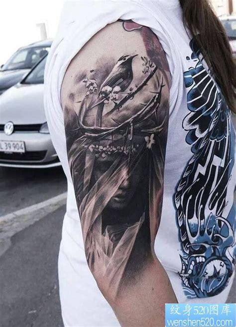 手臂欧美个性纹身图案