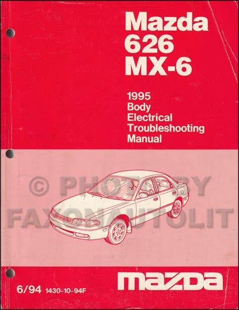 free online auto service manuals 1995 mazda mx 5 lane departure warning 1995 mazda 626 and mx 6 body electrical troubleshooting manual original