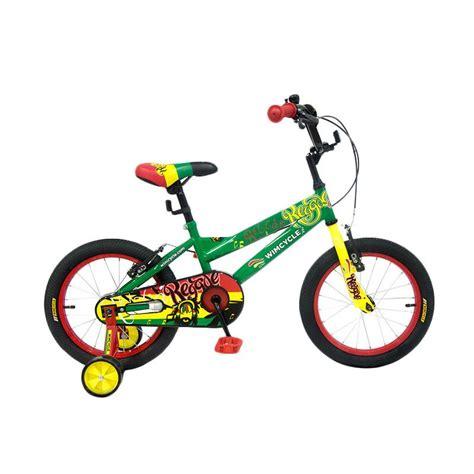 Sepeda Anak Bmx Wim Cycle 12 Regae jual wimcycle reggae bmx sepeda anak green 16 inch harga kualitas terjamin