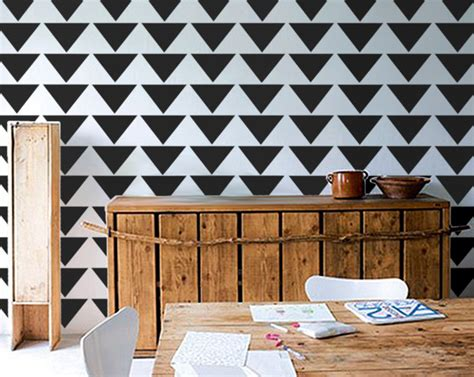 triangle pattern on wall allover wall stencil mod triangle pattern allover pattern