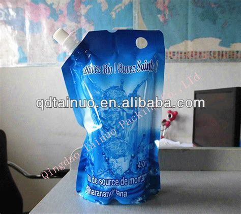 Standing Pouch 500 Ml different design 300ml 500ml water packing bag and pouch