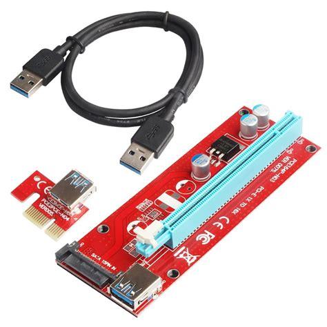Pci E Riser 1x usb 3 0 pci e express 1x to 16x pci e extender riser card