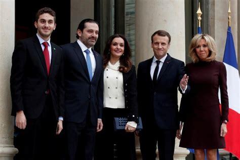 emmanuel macron hariri lebanon s saad al hariri arrives in paris for talks with