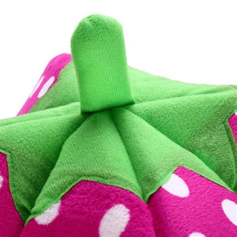strawberry dog house plush strawberry dog house top pet gifts