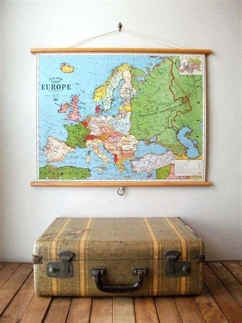 how to hang a map without a frame vintage school maps la boutique vintage