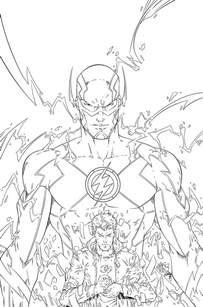 the flash vs reverse coloring pages to print sketch template