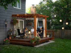 small backyard decks amp patios landscaping gardening ideas