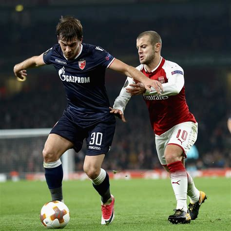 arsenal red star belgrade highlights arsenal qualify for europa league knockout stage with draw
