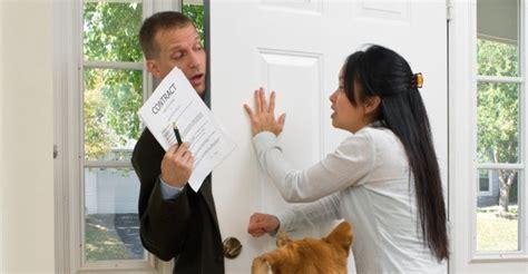 door to door security system sales door knocking security sales high pressure tactics