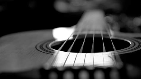 guitar wallpaper black and white hd acoustic guitar monochrome photography wallpaper