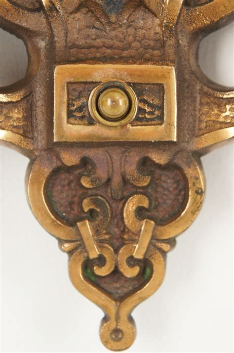Electrical Box For Wall Sconce Vintage Cast Brass 2 Candle Tudor Style Wall Sconce Circa 1930s