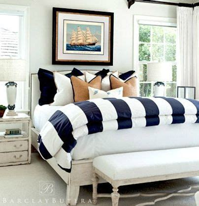 navy blue coastal bedroom design with glossy navy blue 25 best ideas about striped bedding on pinterest