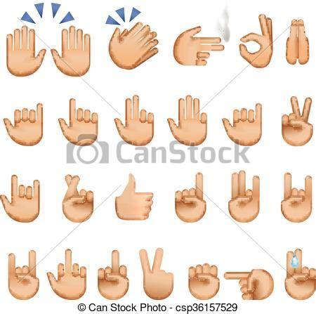 imagenes de simbolos satanicos con las manos ilustraciones de vectores de emoji s 237 mbolos manos