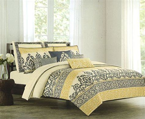 mustard comforter set nicole miller home king cal king duvet cover and shams set