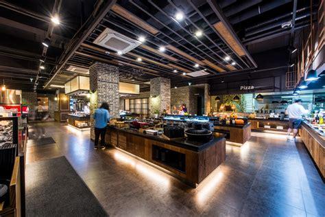 Meja Lipat Kedai Makan gambar meja restoran bar makan makanan prasmanan desain interior lobi barbecue kedai