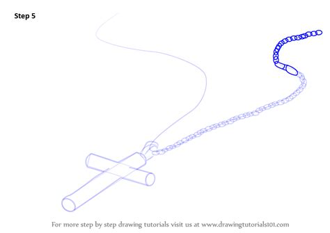 learn   draw decorated cross  chain christianity