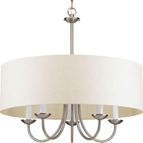 progress lighting brushed nickel chandelier progress lighting 5 light brushed nickel chandelier with
