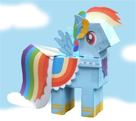 Rainbow Dash Papercraft - rainbow dash papercraft by freetoys on deviantart