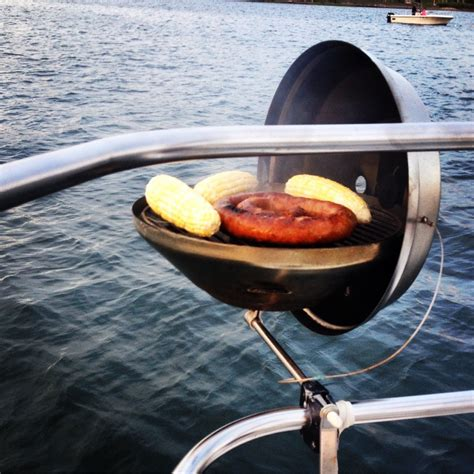 boat grill summer is grilling season even on a boat walden hill