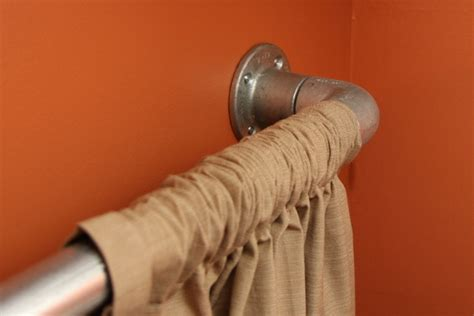 elbow curtain rod industrial pipe curtain rods