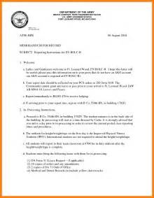 Us Army Memorandum For Record Template by 7 Army Memorandum For Record Template Cio Resumed