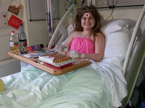 girl in hospital bed teenage girls suffers stroke after symptoms misdiagnosed