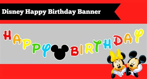 How To Make A Happy Birthday Banner Of Paper - how to make a diy mickey mouse clubhouse inspired happy