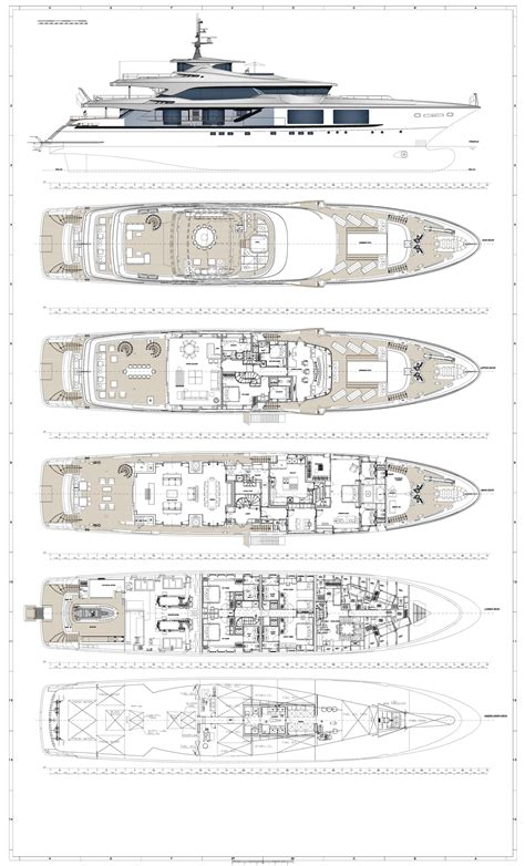 serene yacht layout mega luxury yachts plans ask home design
