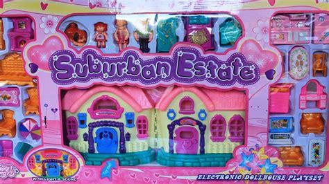 doll house playset dollhouse suburban estate electronic dollhouse playset kids toys youtube