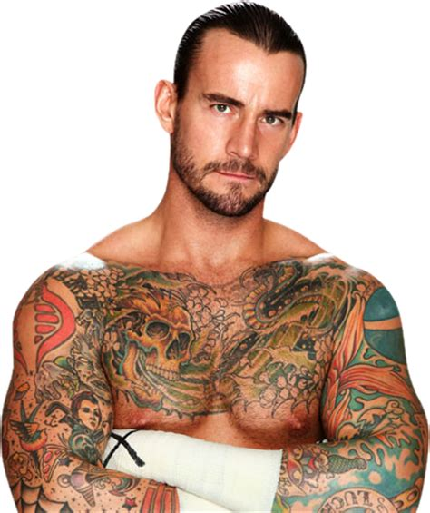 cm punk tattoo cm chion wrestler sports
