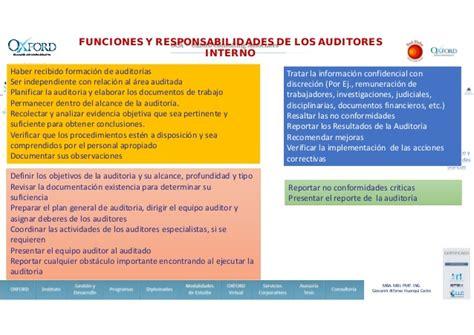 auditor interno formaci 243 n de auditor interno sgi oxford