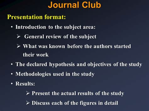 Principals Of Biomedical Research Ppt Video Online Download Journal Club Template Ppt