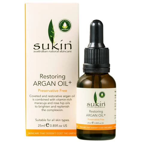 buy restoring argan 25 ml by sukin priceline
