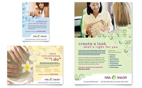 Nail Salon Flyer Ad Template Design Nail Brochure Templates Free