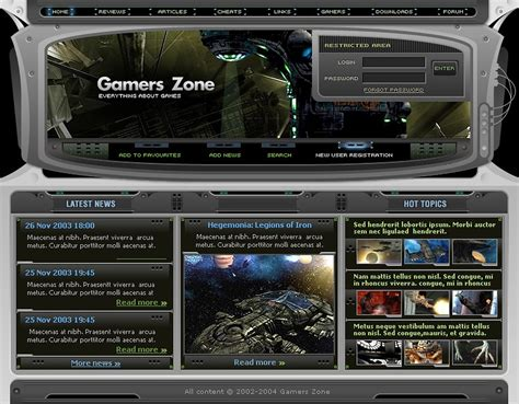 Games Php Nuke Template 6416 Php Website Templates