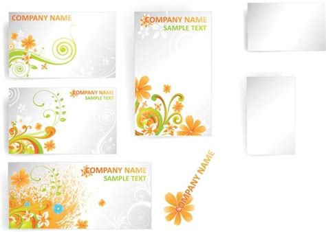 flower card template flower card template vector pattern free vector in